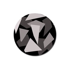 Simple gray abstraction Magnet 3  (Round)