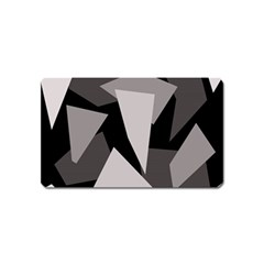 Simple gray abstraction Magnet (Name Card)