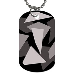 Simple gray abstraction Dog Tag (One Side)