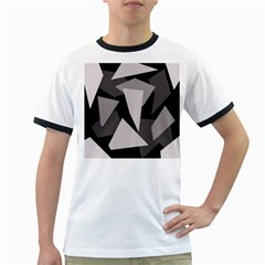Simple gray abstraction Ringer T-Shirts