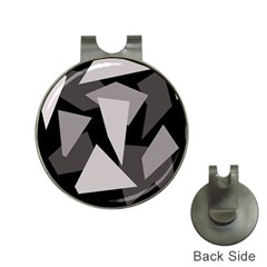 Simple gray abstraction Hat Clips with Golf Markers