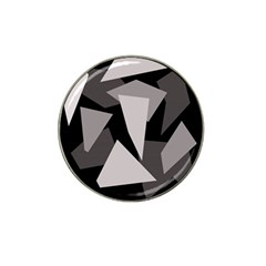 Simple gray abstraction Hat Clip Ball Marker