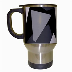 Simple gray abstraction Travel Mugs (White)