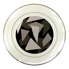 Simple gray abstraction Porcelain Plates