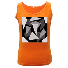 Simple gray abstraction Women s Dark Tank Top