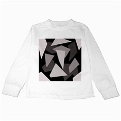 Simple gray abstraction Kids Long Sleeve T-Shirts