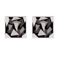 Simple gray abstraction Cufflinks (Square)