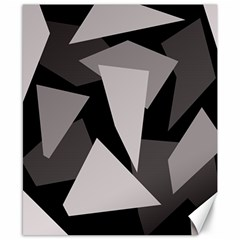 Simple gray abstraction Canvas 8  x 10
