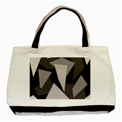 Simple gray abstraction Basic Tote Bag (Two Sides)