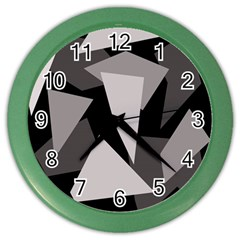 Simple gray abstraction Color Wall Clocks