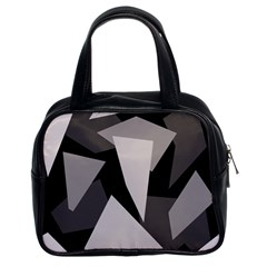 Simple gray abstraction Classic Handbags (2 Sides)