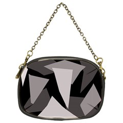 Simple gray abstraction Chain Purses (One Side)