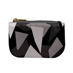 Simple gray abstraction Mini Coin Purses