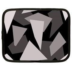 Simple gray abstraction Netbook Case (XL)