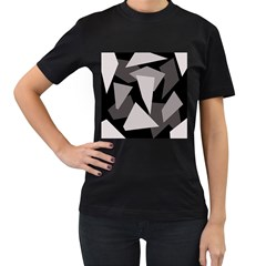 Simple gray abstraction Women s T-Shirt (Black)