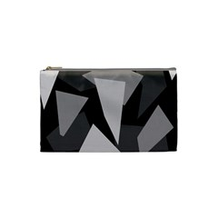 Simple gray abstraction Cosmetic Bag (Small)