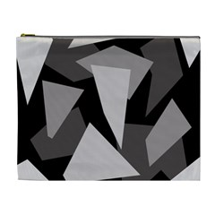 Simple gray abstraction Cosmetic Bag (XL)