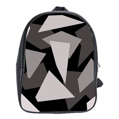 Simple gray abstraction School Bags(Large)