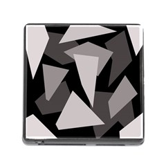 Simple gray abstraction Memory Card Reader (Square)