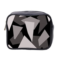 Simple gray abstraction Mini Toiletries Bag 2-Side