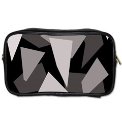 Simple gray abstraction Toiletries Bags