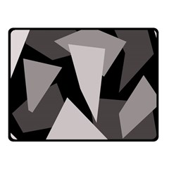 Simple gray abstraction Fleece Blanket (Small)