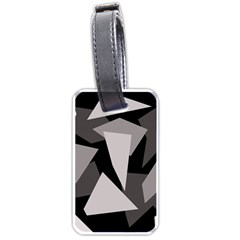 Simple gray abstraction Luggage Tags (Two Sides)