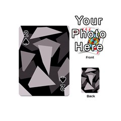 Simple gray abstraction Playing Cards 54 (Mini)