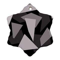 Simple gray abstraction Ornament (Snowflake)