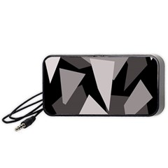 Simple gray abstraction Portable Speaker (Black)