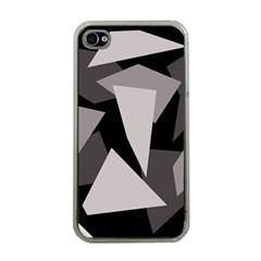 Simple gray abstraction Apple iPhone 4 Case (Clear)