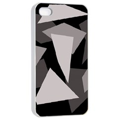 Simple gray abstraction Apple iPhone 4/4s Seamless Case (White)
