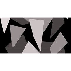Simple gray abstraction YOU ARE INVITED 3D Greeting Card (8x4)