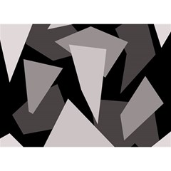 Simple gray abstraction Birthday Cake 3D Greeting Card (7x5)
