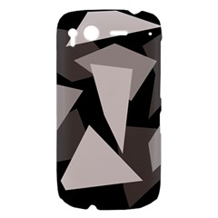 Simple gray abstraction HTC Desire S Hardshell Case