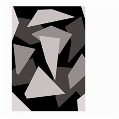 Simple gray abstraction Large Garden Flag (Two Sides)