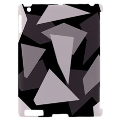 Simple gray abstraction Apple iPad 2 Hardshell Case (Compatible with Smart Cover)