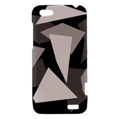 Simple gray abstraction HTC One V Hardshell Case