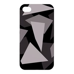 Simple gray abstraction Apple iPhone 4/4S Premium Hardshell Case