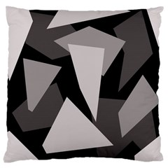 Simple gray abstraction Large Cushion Case (One Side)