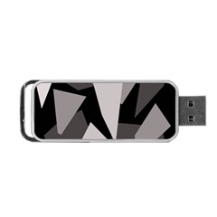 Simple gray abstraction Portable USB Flash (One Side)