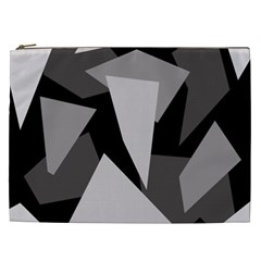 Simple gray abstraction Cosmetic Bag (XXL)