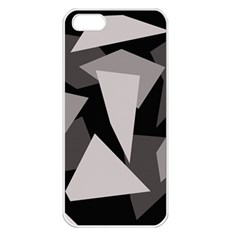Simple gray abstraction Apple iPhone 5 Seamless Case (White)