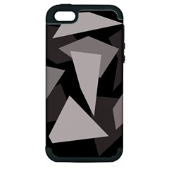 Simple gray abstraction Apple iPhone 5 Hardshell Case (PC+Silicone)