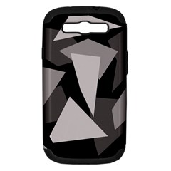 Simple gray abstraction Samsung Galaxy S III Hardshell Case (PC+Silicone)