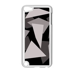 Simple gray abstraction Apple iPod Touch 5 Case (White)