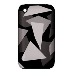 Simple gray abstraction Apple iPhone 3G/3GS Hardshell Case (PC+Silicone)