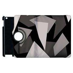 Simple gray abstraction Apple iPad 2 Flip 360 Case