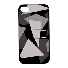 Simple gray abstraction Apple iPhone 4/4S Hardshell Case with Stand
