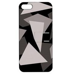 Simple gray abstraction Apple iPhone 5 Hardshell Case with Stand
